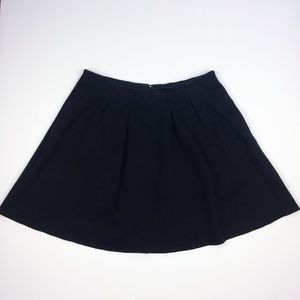 Madewell Countdown Black Pleated Skirt Pockets